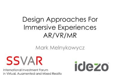 Design Approaches For Immersive Experiences – #IIFVAR 2017